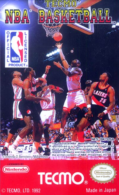 Cover of Tecmo NBA Basketball