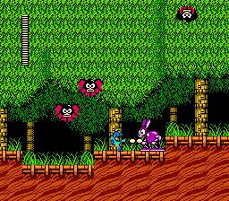 "Rockman 2 - Dr. Wily no Nazo  <span class=""label"">Japan</span> <span title=""A dump of a pirated version of a game. These ROMs often have their copyright messages or company names removed or corrupted."" class=""label"">Pirated version 1</span>  - Screenshot 3/6"
