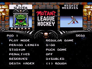 Mutant League Hockey - Screenshot 3/5