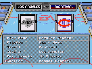 NHL 94 - Screenshot 3/5
