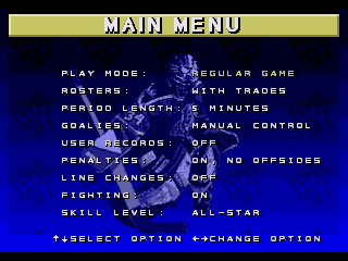 NHL 97 - Screenshot 3/5