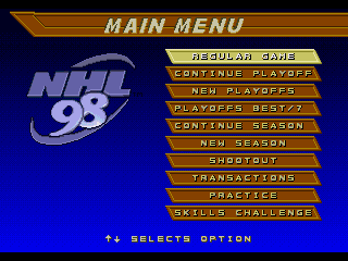 NHL 98 - Screenshot 3/5