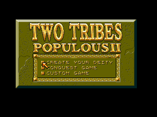 Populous II - Two Tribes - Screenshot 1/5