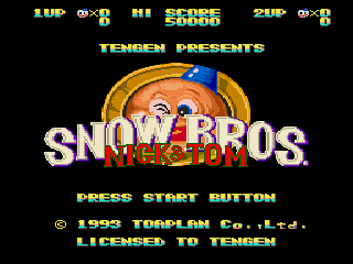 Snow Bros. - Nick & Tom - Screenshot 1/5