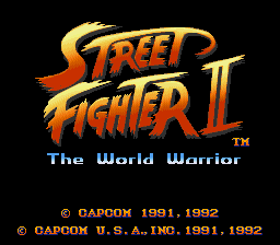 Street Fighter II - The World Warrior - Screenshot 1/6