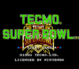 Tecmo Super Bowl - Screenshot 1/4